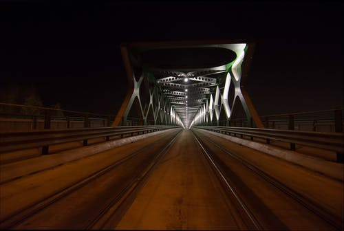 Free stock photo of architecture, bridge, night photography