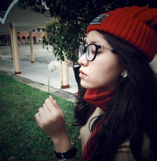 Woman Wearing Red Beanie Cap