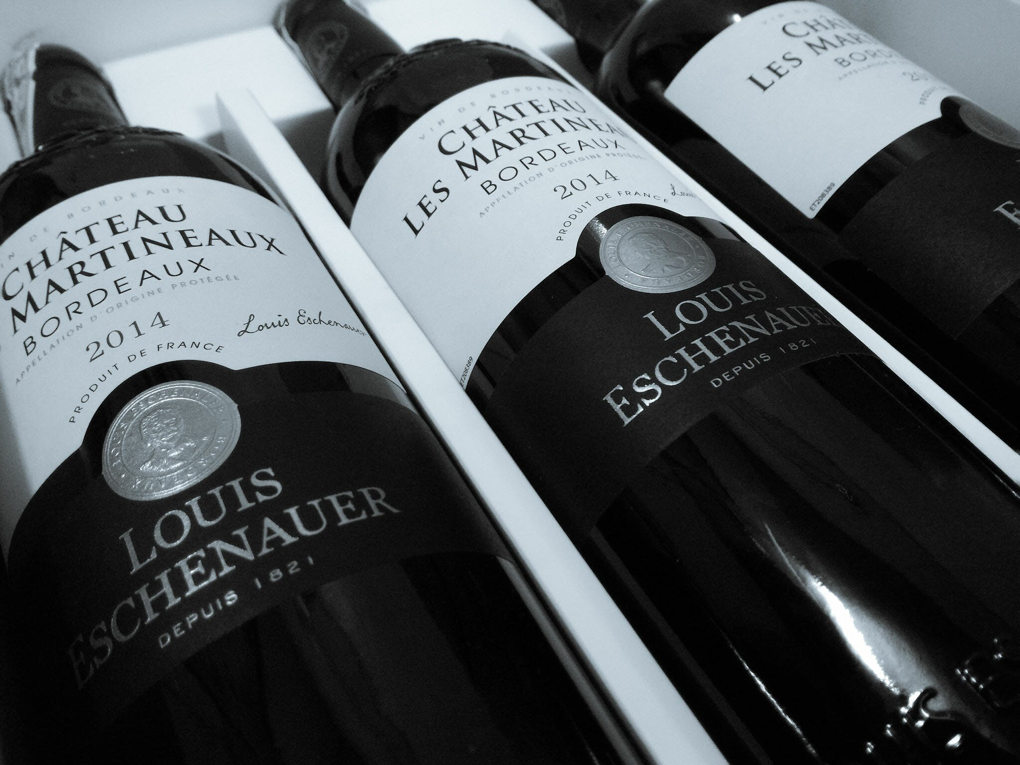 2014 Three Chateau Les Martineaux Bordeaux Bottles
