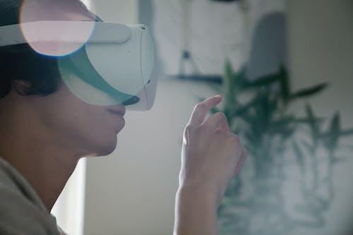 Foto d'estoc gratuïta de afició, artefacte, casc de realitat virtual