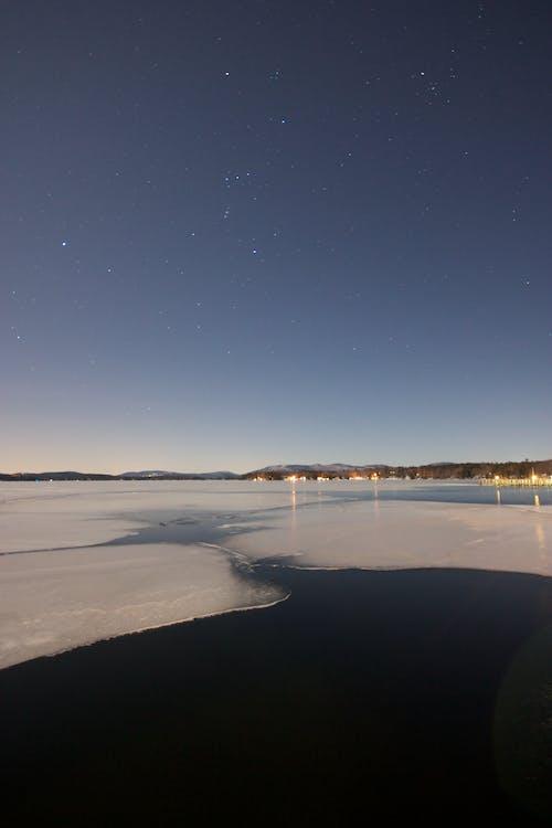 Gratis lagerfoto af hav, nat, stjerner, strand