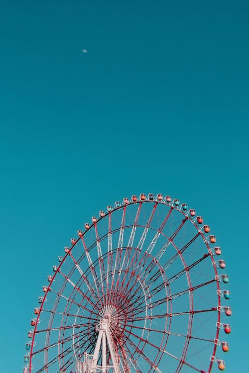 Low-Angle Shot of a Ferris Wheel