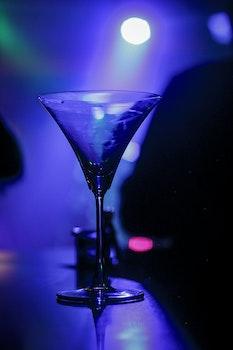 Closeup Photo of Clear Long Stem Wine Glass