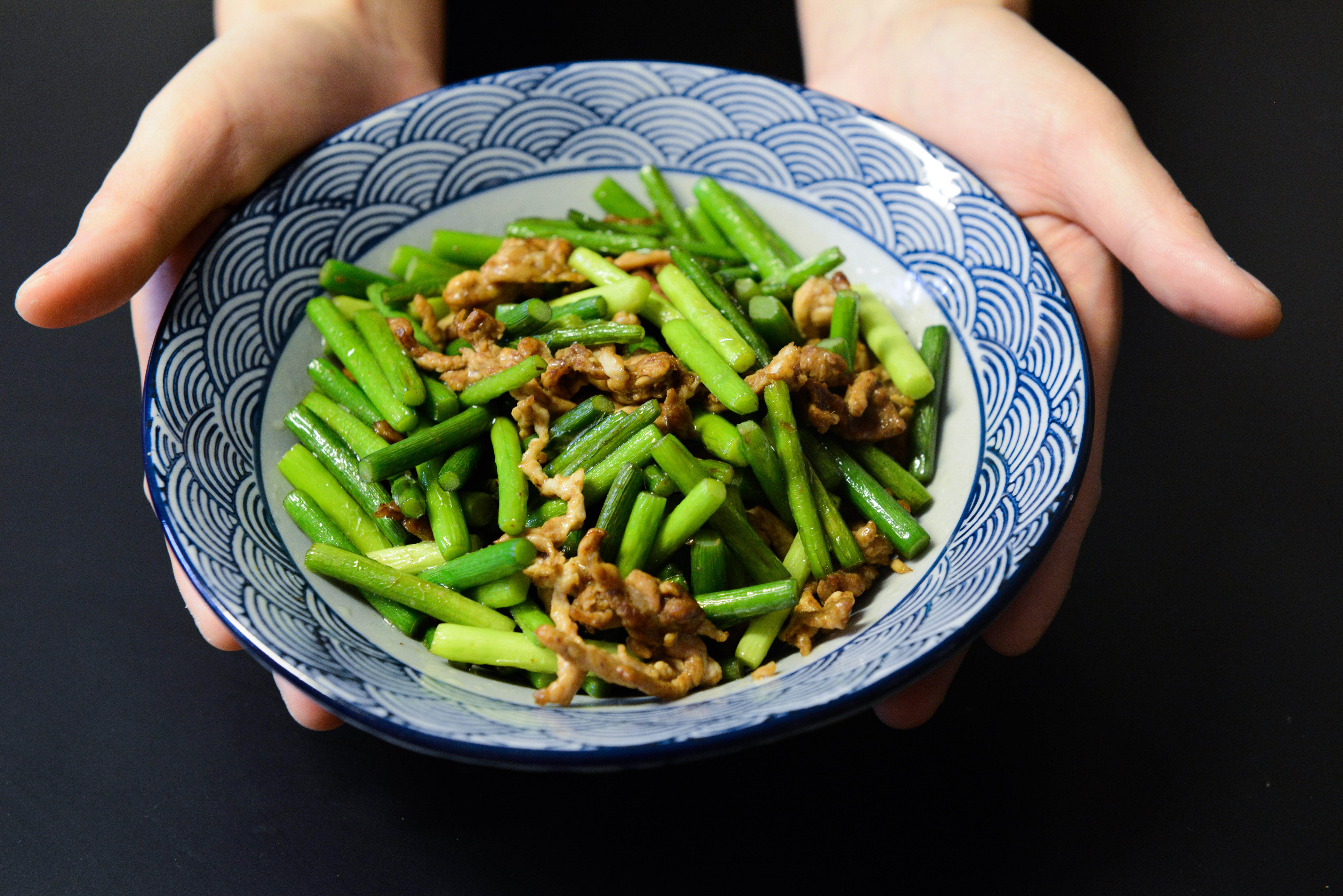 Saute Beans With Pork