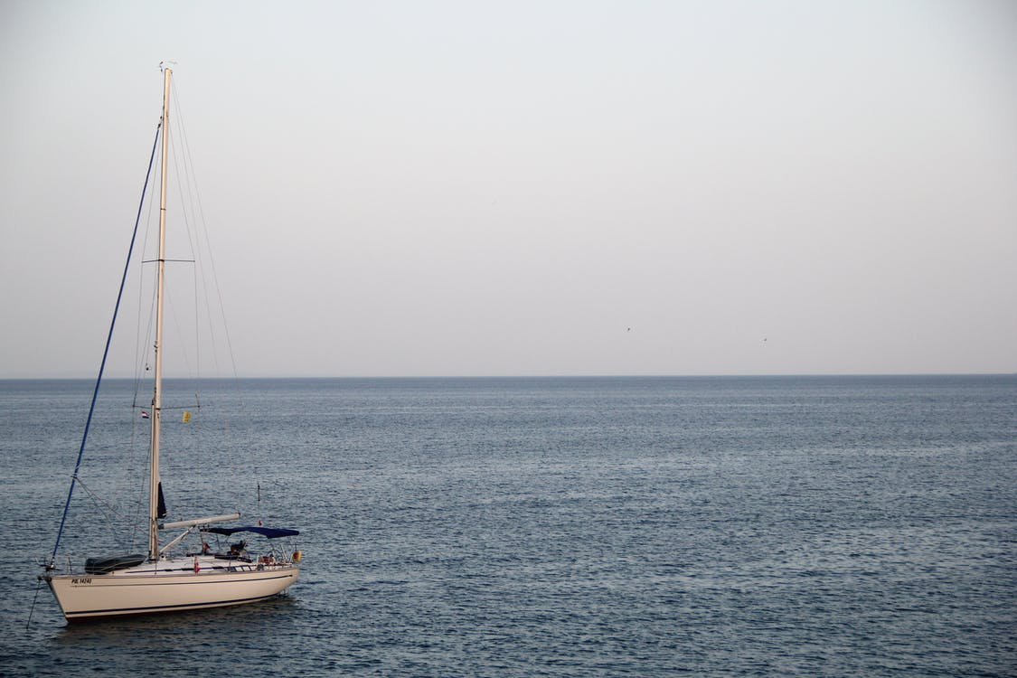 aigua, barca, blau