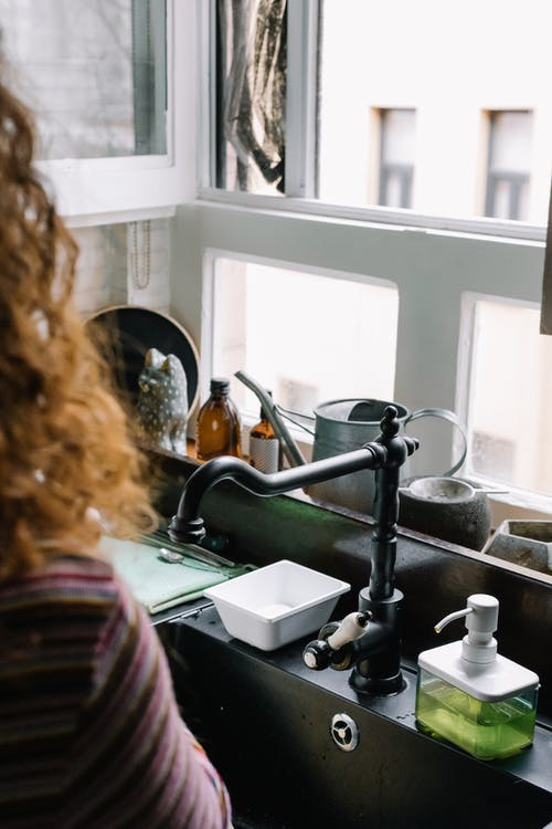 Window Pane Over Kitchen Sink