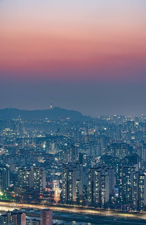Immagine gratuita di cielo, cielo viola, città
