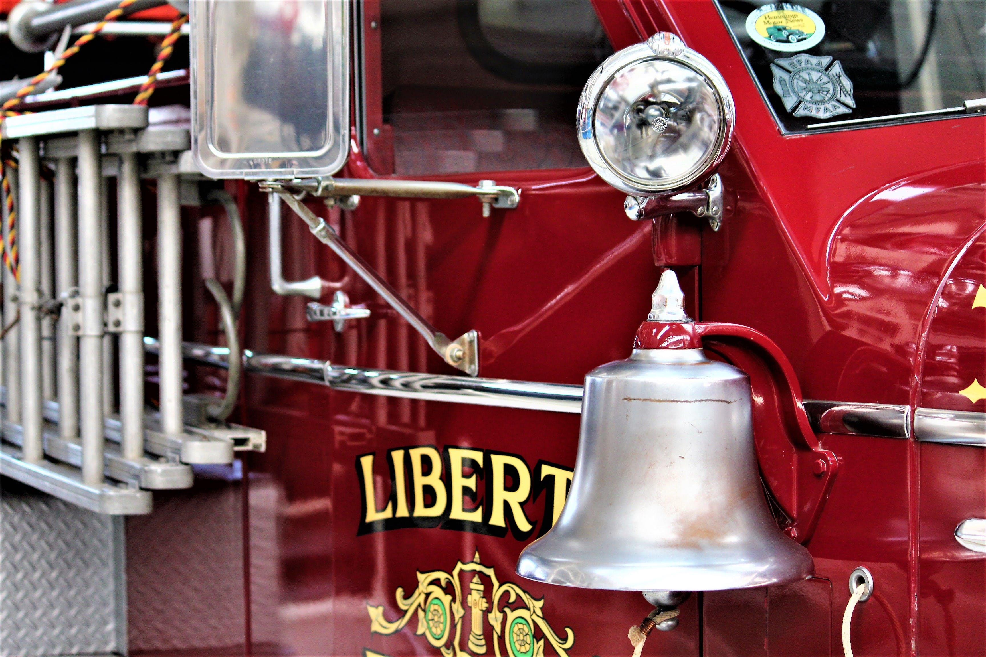 Free stock photo of extinguisher, fire department, firetruck