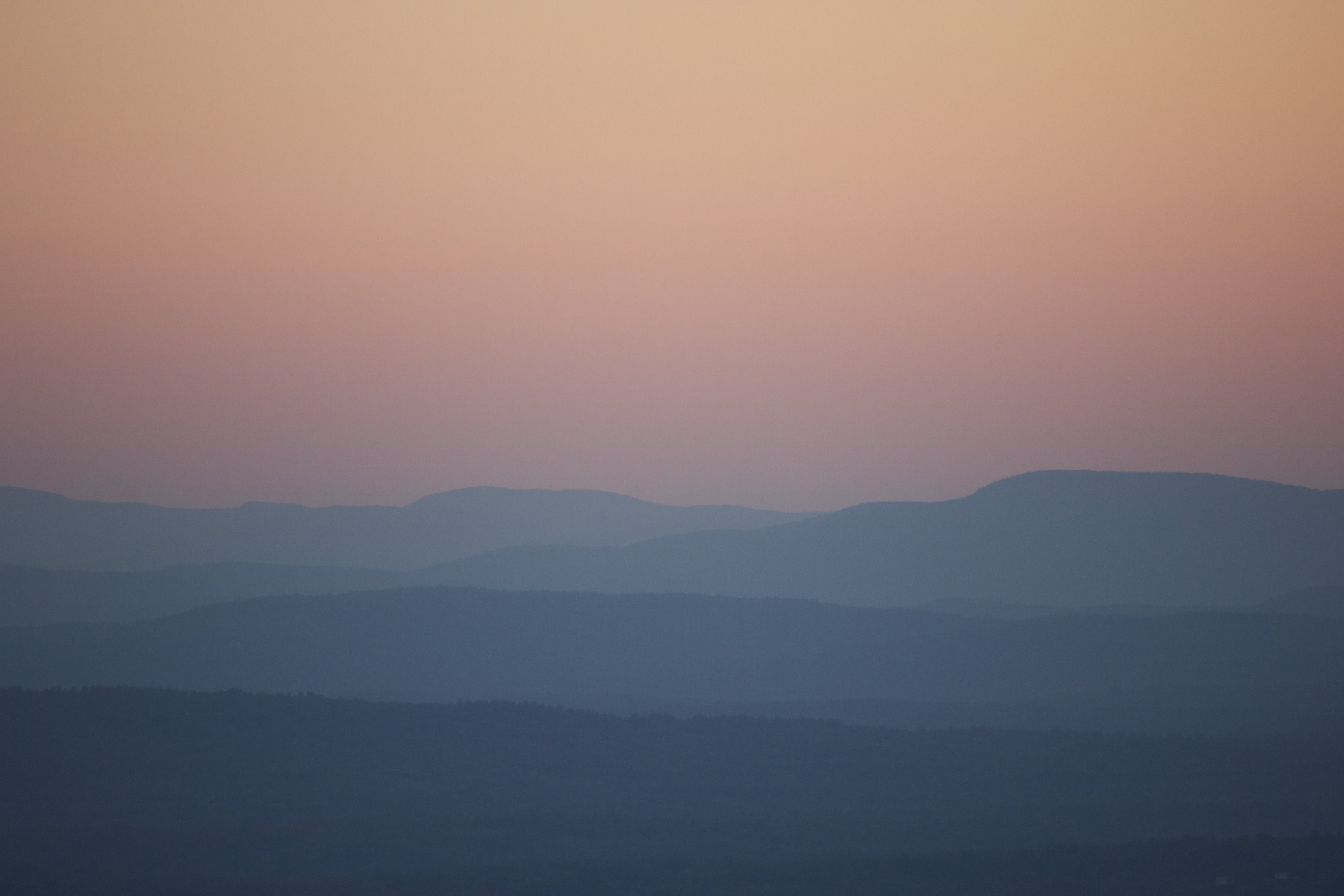 dusk, landscape, mountains