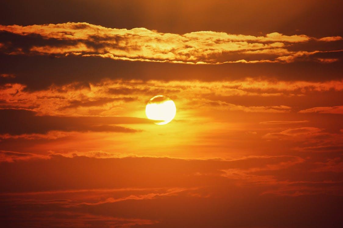 açık, akşam, akşam Güneşi