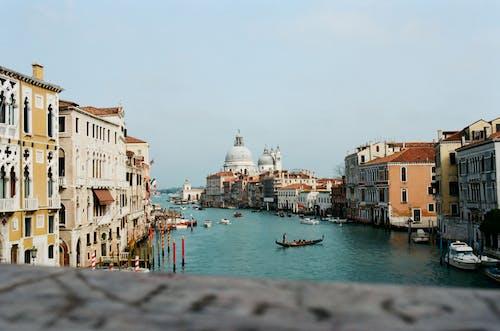 Famous Venice canal near Salute church