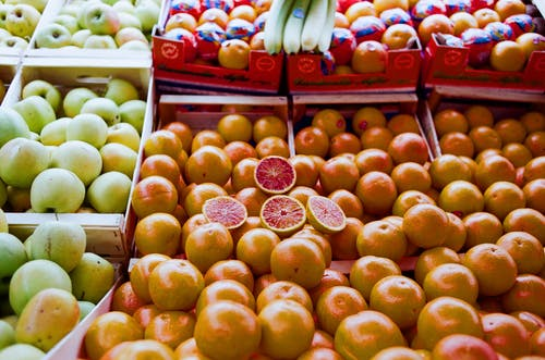 Ripe fruits in local market