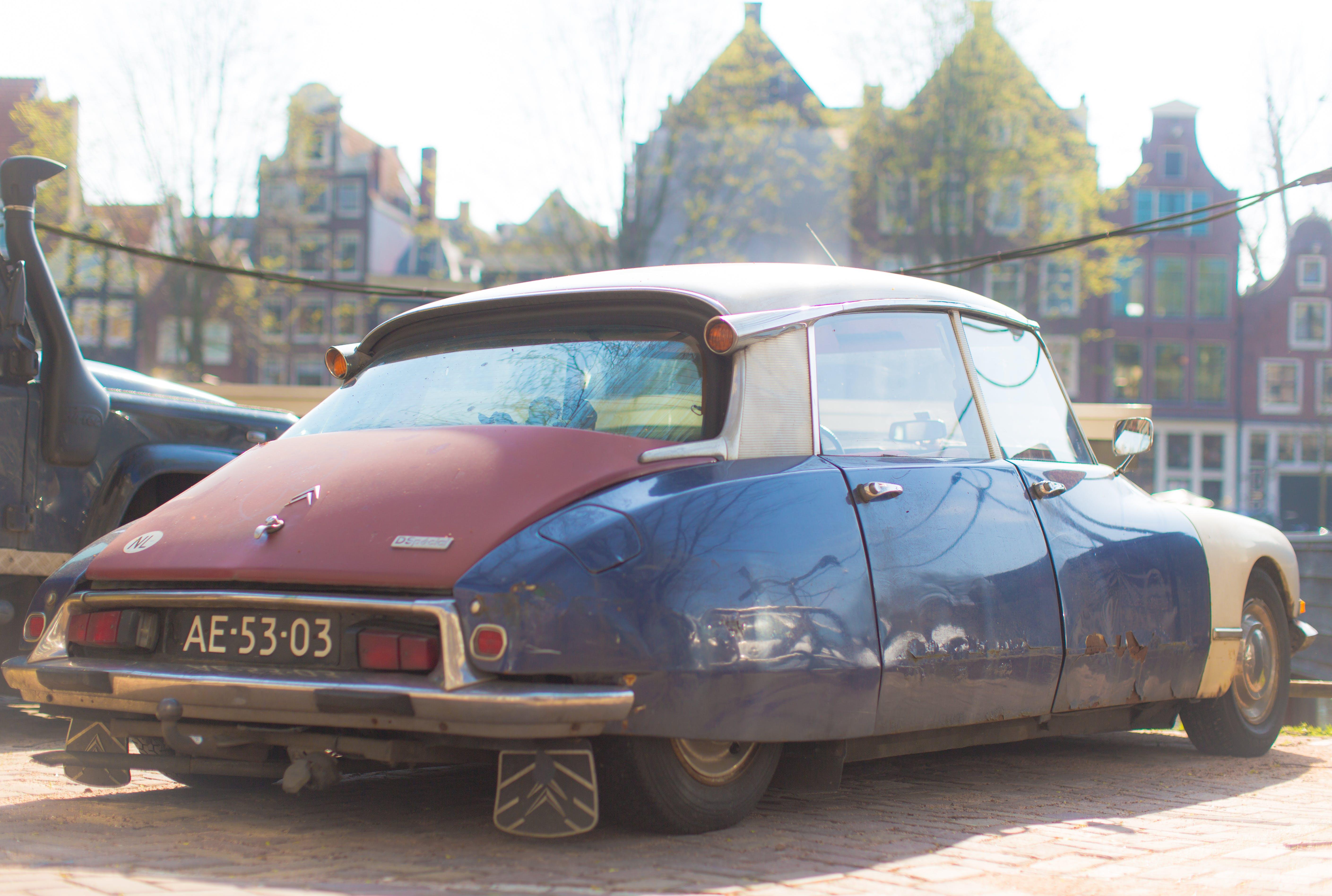 Free stock photo of amsterdam, car, citroen, city