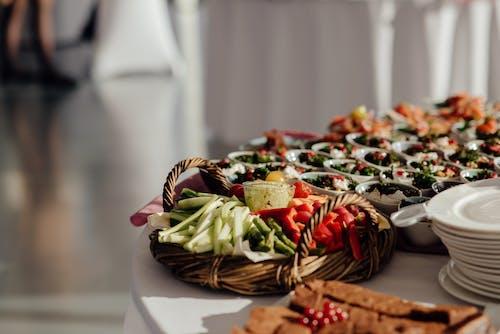 Vegetable Salad on Brown Woven Basket