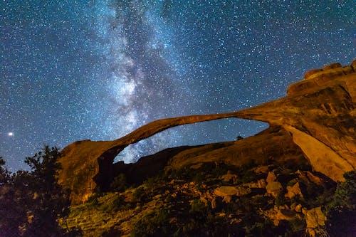 Základová fotografie zdarma na téma dlouhá expozice, hvězdná obloha, hvězdy