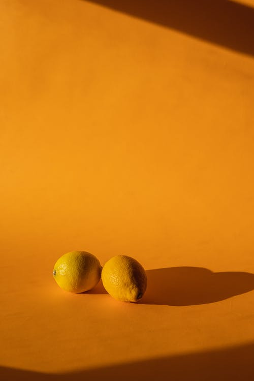Lemons on a Yellow Background