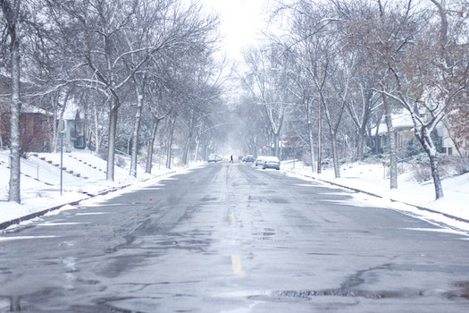 Free stock photo of cold, snow, road, street