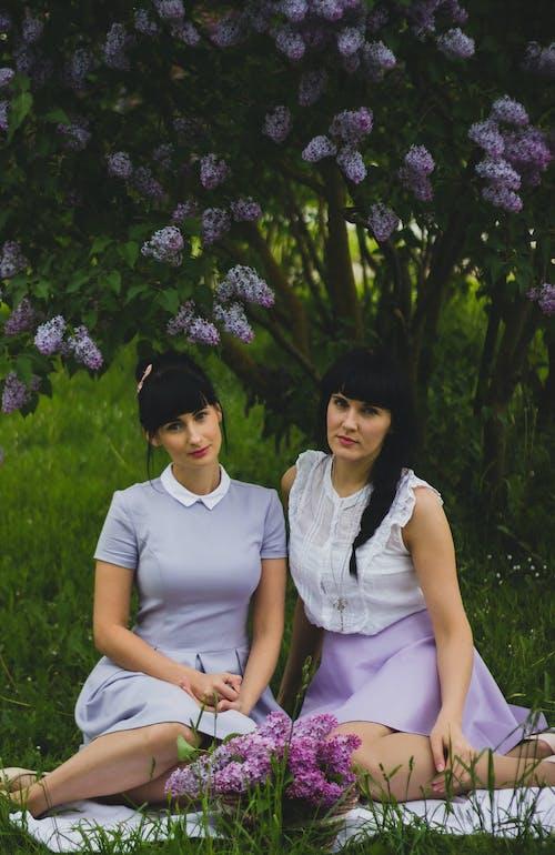 坐, 女性, 姐妹, 年輕 的 免費圖庫相片