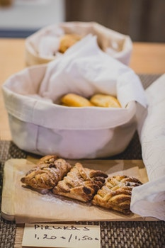 Pastries on Basket