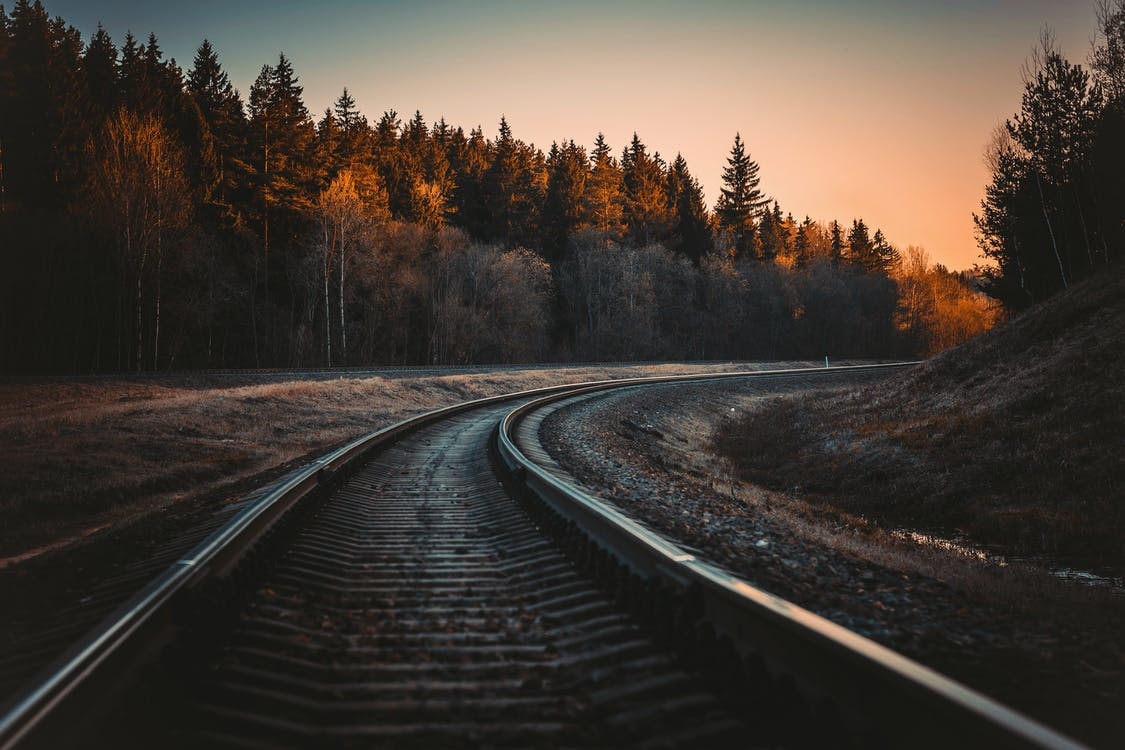 Train Rail during Golden Hour