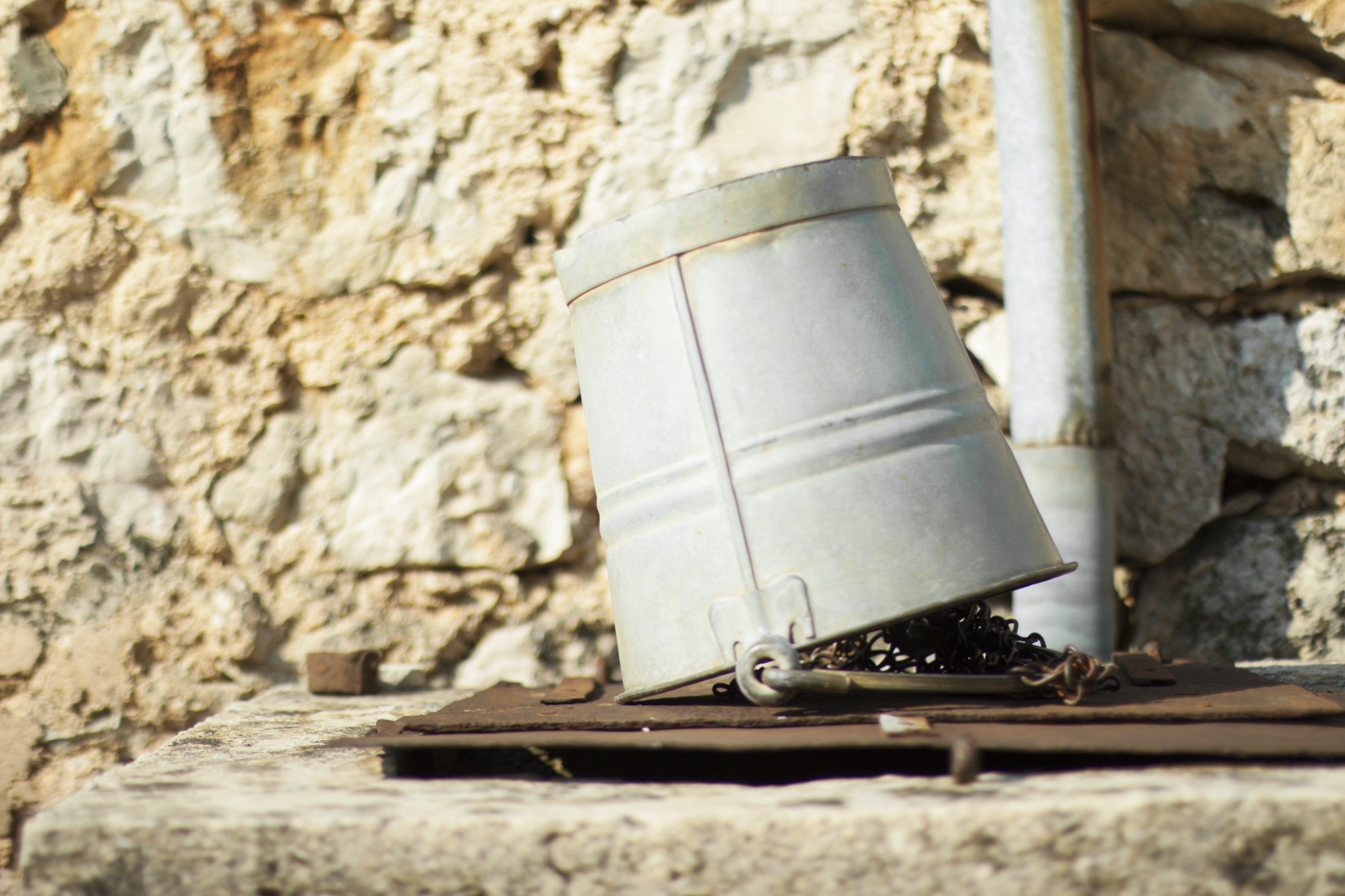 Free stock photo of bucket, old bucket, water bucket