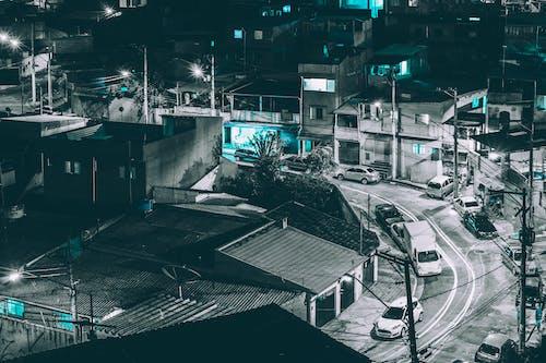 Gratis lagerfoto af Brasilien, favela, lang eksponering, natteliv