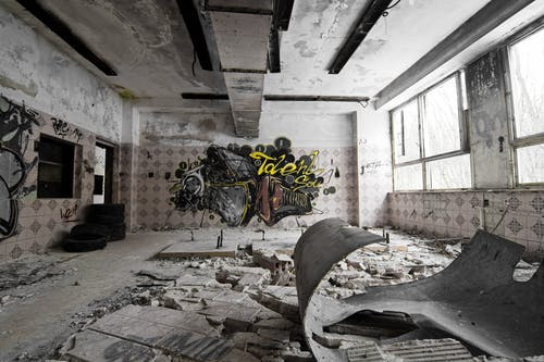 Free stock photo of graffiti, old building, ruins