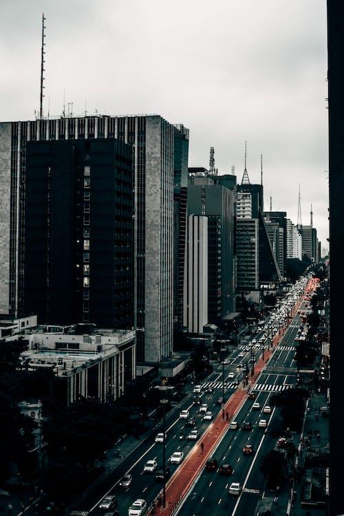 Fotos de stock gratuitas de avenida paulista, blanco y negro, Brasil, calle