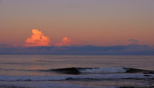 Free stock photo of beach, calm, clouds
