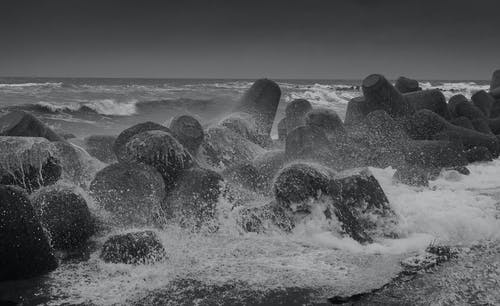 Free stock photo of bad weather, beach, beach waves