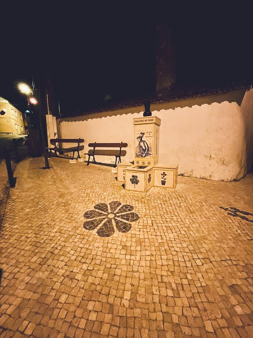 Free stock photo of at night, village, vintage
