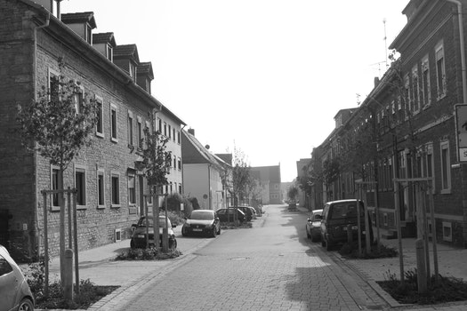 Free stock photo of black-and-white, town, no people, Kitzingen