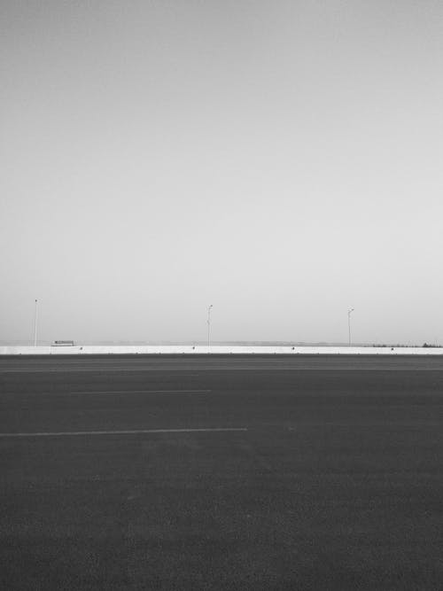 Free stock photo of black and white, empty road, highway