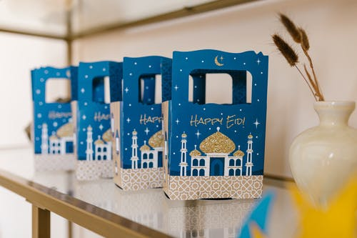 Blue and White Gift Boxes