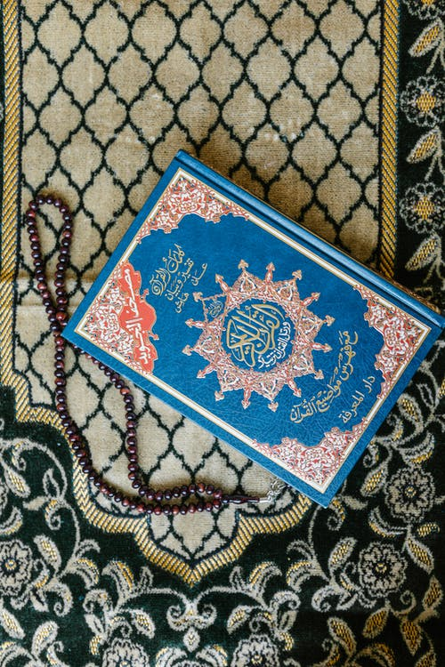 Blue and White Floral Book