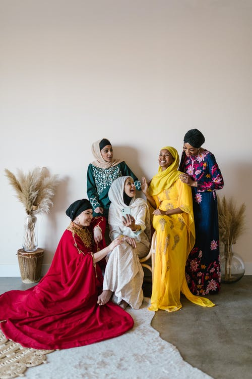 Group of Women Wearing Different Hijabs