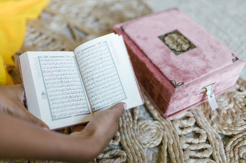 Person Holding An Open Holy Book