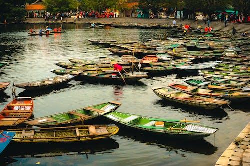 Foto d'estoc gratuïta de aigua blava, barca, ferri, medi ambient