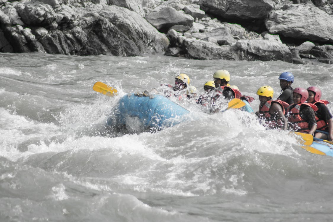 Free stock photo of rafting, rapids, waves