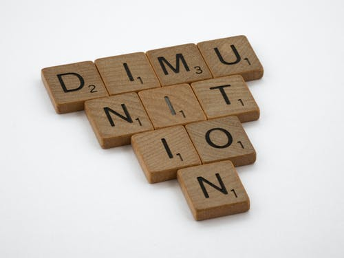 Brown Wooden Tiles with Letters