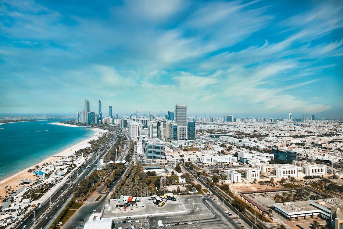 corniche abu dhabi, UAE, 건물의 무료 스톡 사진