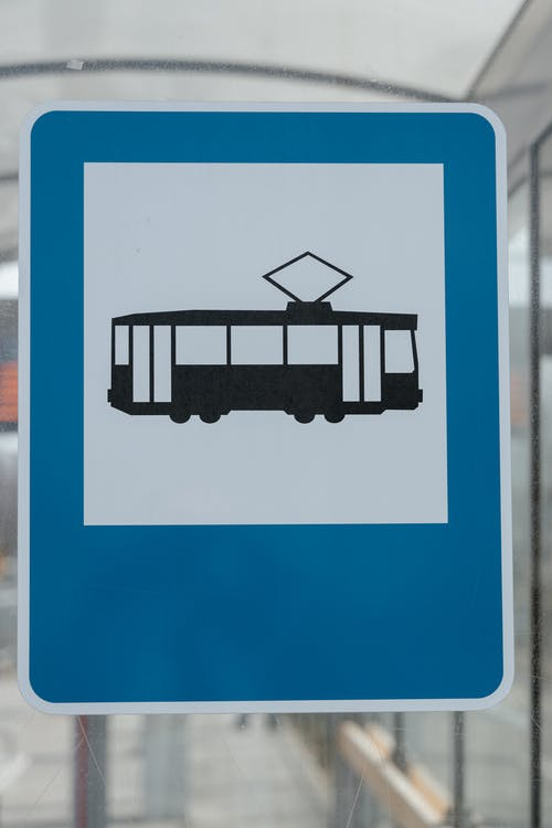 Tram and Bus Stop Sign