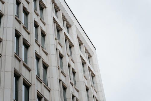 Low-Angle Shot of a Concrete Building