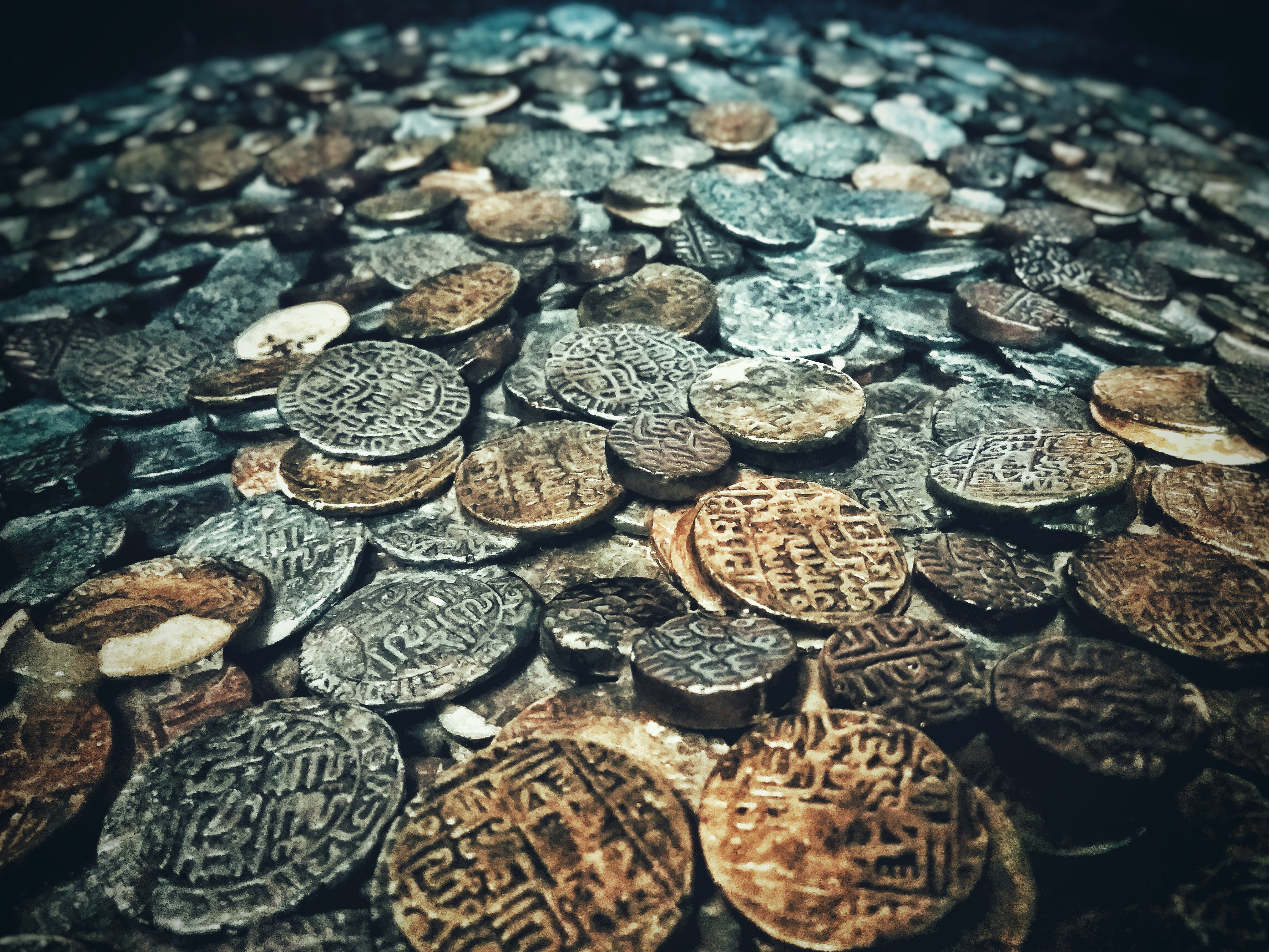 Free stock photo of ancient, bronze, coins, gold