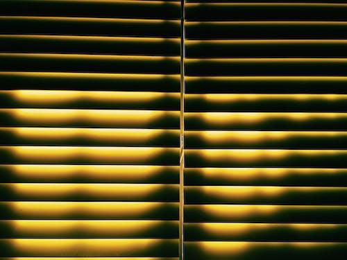 Kostenloses Stock Foto zu gelb, horizontal, jalousie, muster