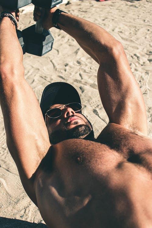 Free stock photo of adult, athlete, beach