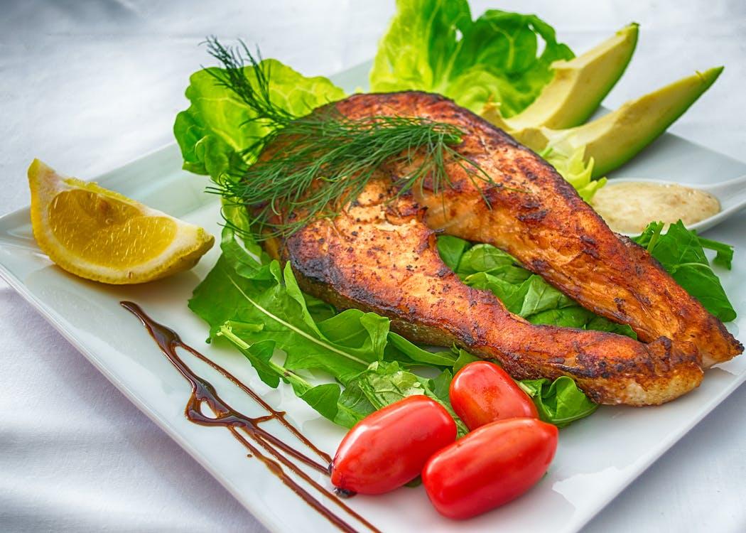 avokado, delikat, fisk