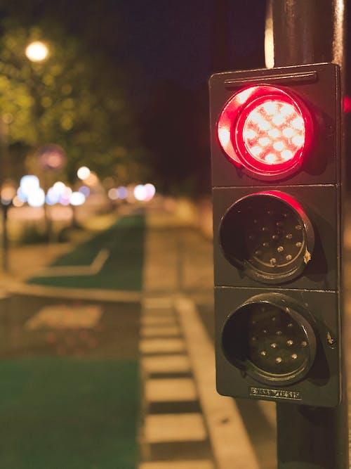 Free stock photo of city lights, night city, traffic light