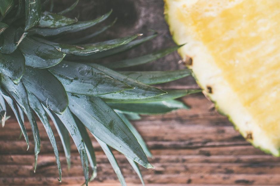 ananas, blätter, ernährung