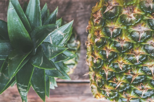 Closeup Photo of Two Pineapples